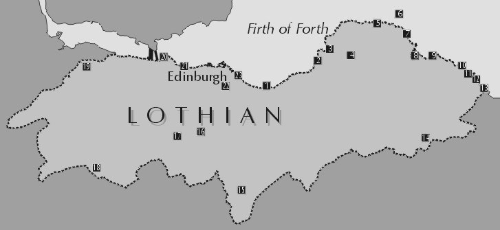 lothian-sites where to birdwatch - map#